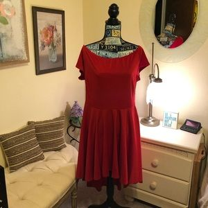 Dresses & Skirts - Bright Red Cap sleeve/ off the  shoulder dress